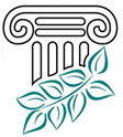 Illustration of a marble pillar with some leaves.