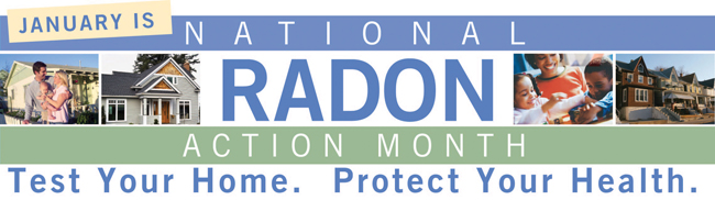 image: January is National Radon Action Month